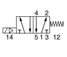 5/2 VALVE G1/8 EL24VDC-SPRING