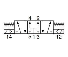 """P2LCX713EENXXX  VALVE 5/3 SOL-SOL (PC) G3/8"""""""