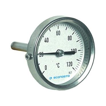 FIG.675 Ý63 0-120°C L=45 RVS THERMOM.VASTE INSTEEK