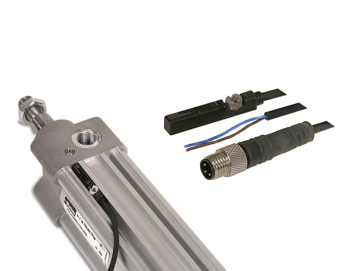 P8S-GRFLX SENSOR REED 2-WIRE 10-120V AC/DC 3M PVC